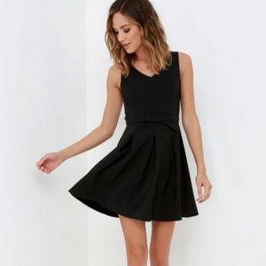 Lulus little black dress with bow